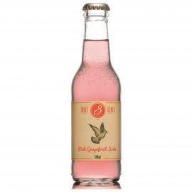 THREE CENTS PINK GRAPEFRUIT SODA 24FL Á 20CL