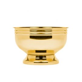 SUGAR/SNACKS BOWL GOLD