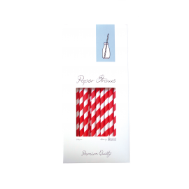 PAPERSTRAW RED 8MM x 25,5CM 100PCS.PACK